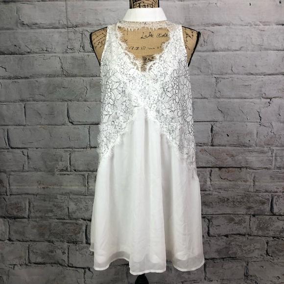 871651f392edf Boohoo Dresses | Sexy Boho Choker Lace Accent Skater Dress | Poshmark